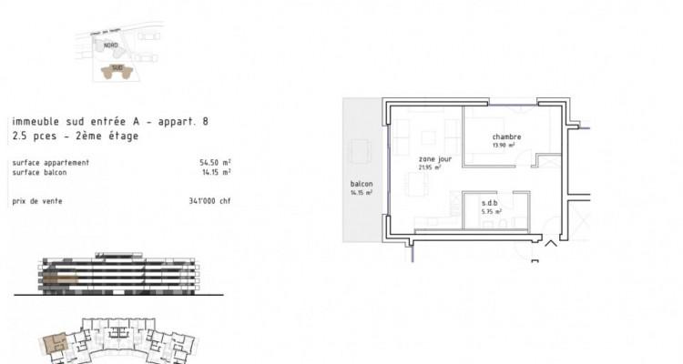 Charmant 2,5 pièces avec grand balcon à Aigle  / D08 SUD image 5