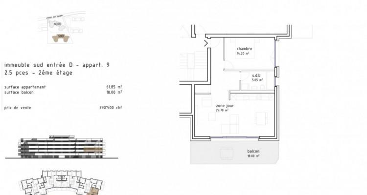 Charmant 2,5 pièces avec grand balcon à Aigle  / D09 SUD image 5