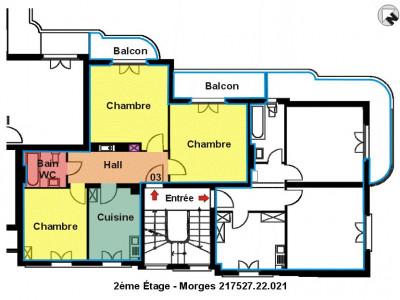 Rue du Sablon 27 à Morges - 3 pièces au 2ème étage image 1