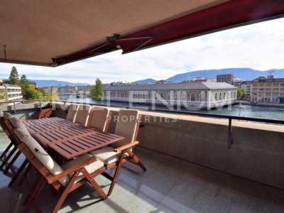 Magnifique appartement de 7P quai de Seujet, terrasse et vue sur le Rhône image 1