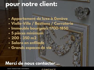 Recherche appartement bourgeois centre ville Genève image 1