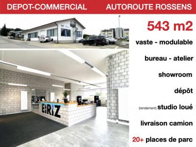 DEPOT-COMMERCIAL - AUTOROUTE - MODULABLE - STUDIO DE RENDEMENT image 1