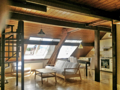 Magnifique loft semi-meublé 3,5 p / 1 chambre / Mezzanine / SDB  image 1