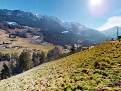 Exclusif Val dIlliez - terrain avec vue imprenable entièrement équipé image 1