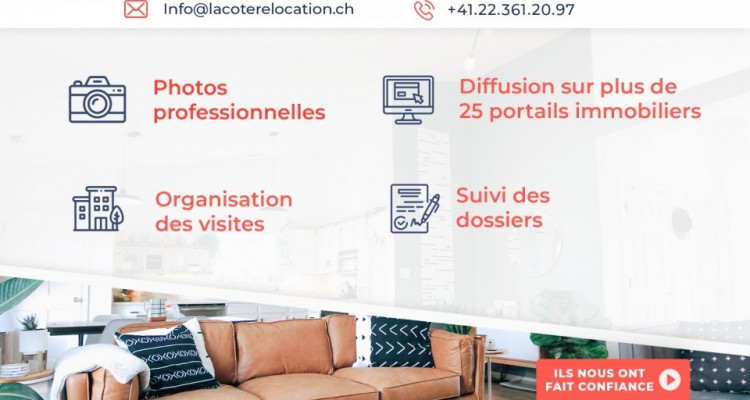 Magnifique appartement 1.5 p / chambre / SDB / jardin image 8