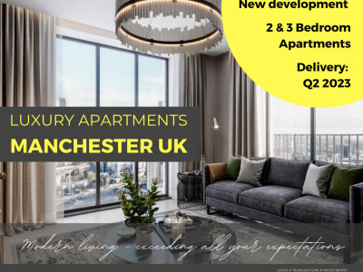 New 2-bedroom deluxe apartments near Manchester city center. image 1