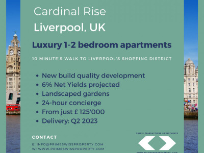 New 1-bedroom apartment in Liverpool city center image 1