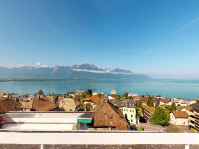 Bel appartement avec vue lac et montagnes panoramique à Veytaux. image 1
