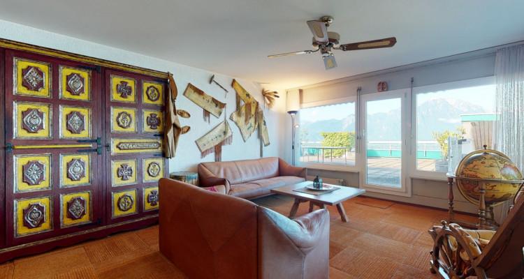 Bel appartement avec vue lac et montagnes panoramique à Veytaux. image 5