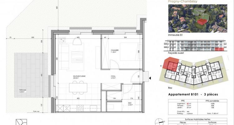 Appartement 3 pièces à 1292 Chambésy - Genève image 3