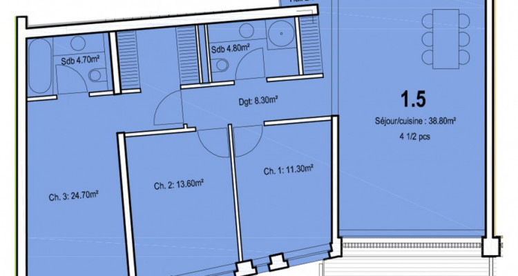 Appartement de 4,5 pièces au centre-ville. image 5