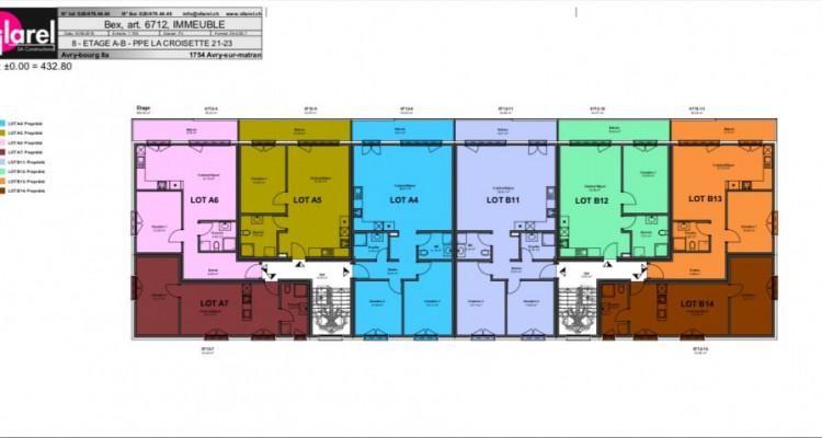 Superbe attique de 2,5 pièces avec balcon sur plan ! image 10