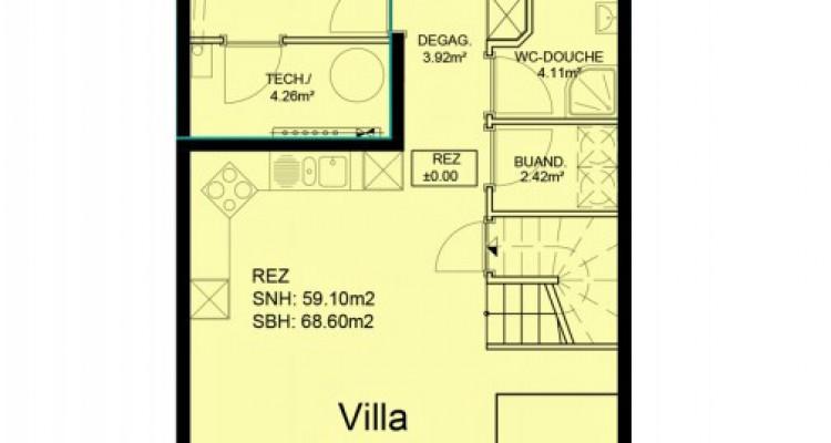 Villa mitoyenne de 5,5 pièces avec jardin. image 5