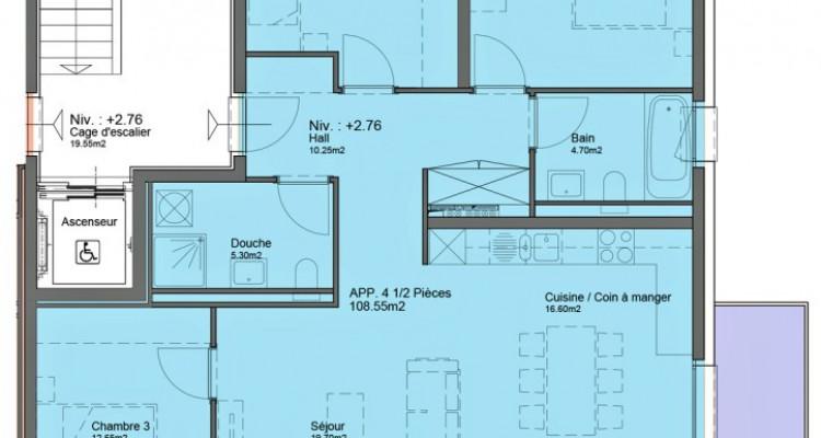 HOME SERVICE vous propose un ppartement de 4,5 pièces avec balcon. image 6