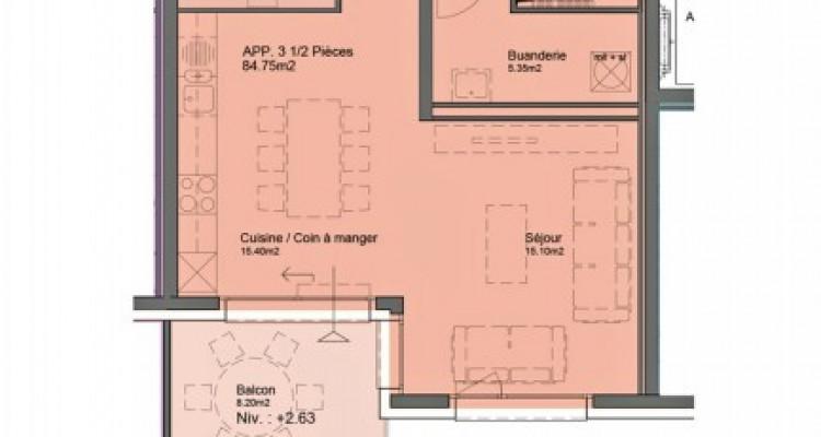 HOME SERVICE vous propose un appartement de 3,5 pièces avec balcon. image 6