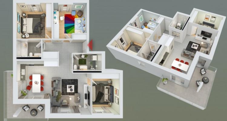 HOME SERVICE vous propose un appartement de 4,5 pièces avec balcon. image 3
