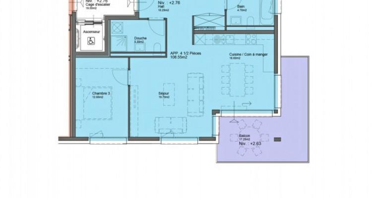 HOME SERVICE vous propose un appartement de 4,5 pièces avec balcon. image 6
