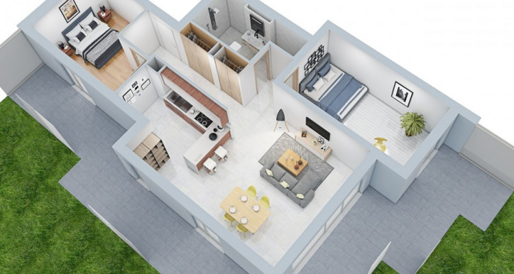 NEUF - Avec terrasse et jardin  image 3
