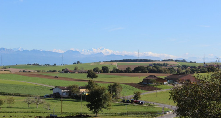 Beau duplex en attique avec vue sur le Mont-Blanc et la campagne image 1