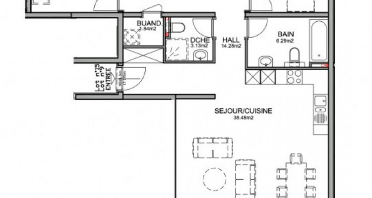 Appartement de 4,5 pièces avec balcon pour investisseur. image 3