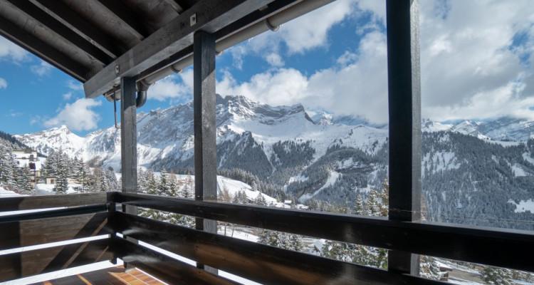 Gryon Immo vous propose un jolie 2 pièces en duplex sur la piste de ski image 9