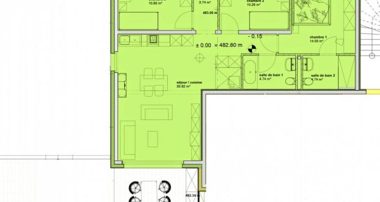 Appartement neuf de 4,5 pièces avec jardin. image 6