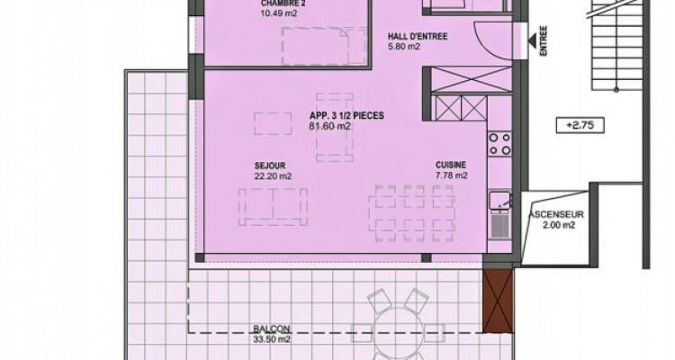 FOTI IMMO - Bel appartement MINERGIE de 3,5 pièces avec balcon. image 5