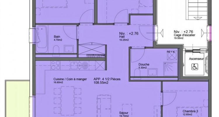 Appartement au 1er étage de 4,5 pièces avec balcon. image 6