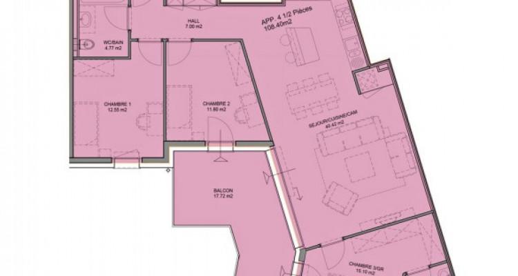 FOTI IMMO - Appartement neuf de 4,5 pièces avec balcon. image 5