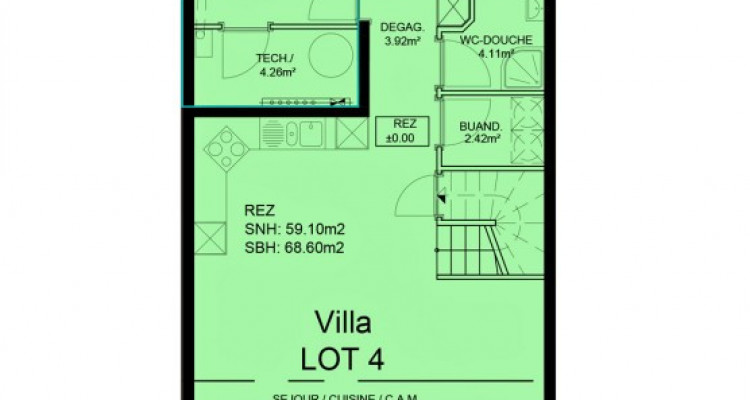 FOTI IMMO - Belle villa mitoyenne de 5,5 pièces avec jardin. image 7