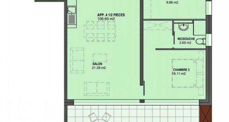 FOTI IMMO - Grand appartement MINERGIE de 4,5 pièces avec balcon. image 5