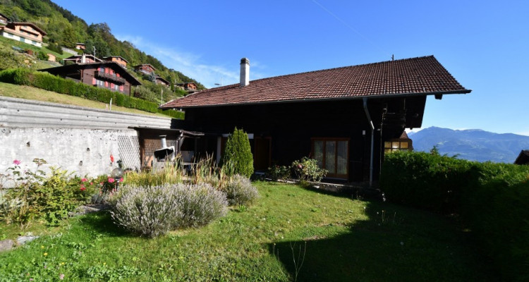 Chalet sympa avec magnifique vue, deux terrasses, un gran séjour avec cheminée image 1
