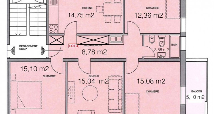 FOTI IMMO - Appartement de 4,5 pièces avec balcon pour investisseur. image 8